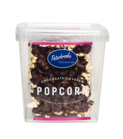 Dark Chocolate Covered Popcorn - 24oz Canister - Peterbrooke Chocolatier
