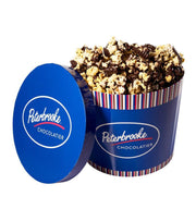 Dark Chocolate Covered Popcorn - 54oz Drum - Peterbrooke Chocolatier