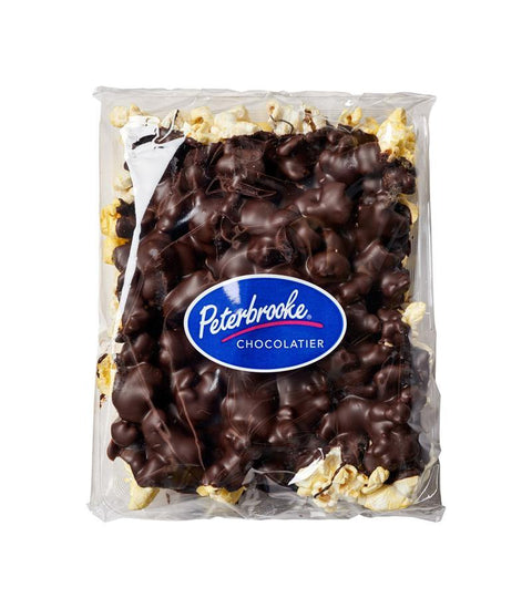 Dark Chocolate Covered Popcorn - 6oz Bar - Peterbrooke Chocolatier