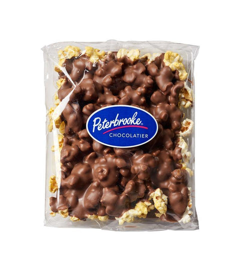 Milk Chocolate Covered Popcorn - 24oz Canister - Peterbrooke Chocolatier