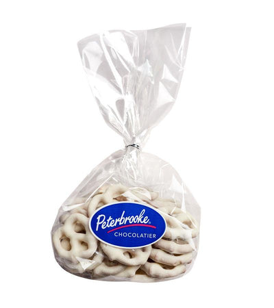 Small Hand-Dipped White Chocolate Pretzel Twists - Peterbrooke Chocolatier