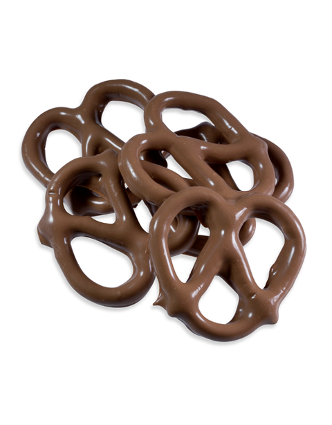 Small Hand-Dipped Milk Chocolate Pretzel Twists - Peterbrooke Chocolatier
