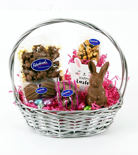 Silver Easter Basket for Girls - Peterbrooke Chocolatier