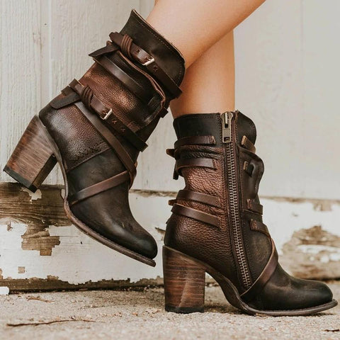 botas polipiel marron