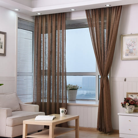 cortinas de salon marrones