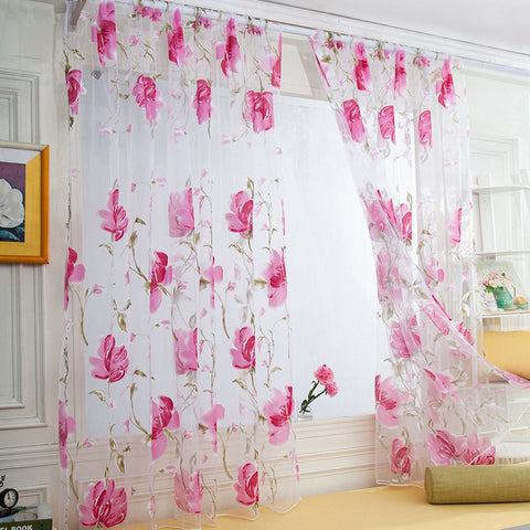 cortinas estampado flores
