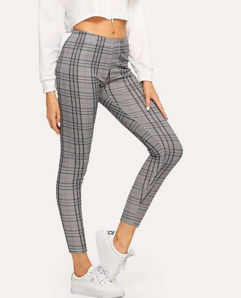 leggings de cuadros gris
