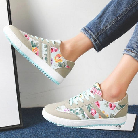 zapatillas estampado floral