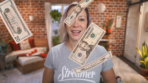 Falling Dollars animation with transparent background
