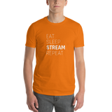 Men's Eat Sleep Stream Repeat Short-Sleeve T-Shirt