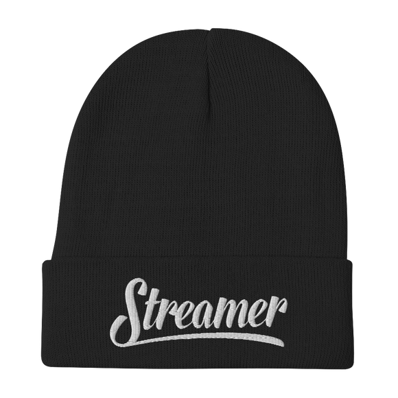 Embroidered Streamer Beanie