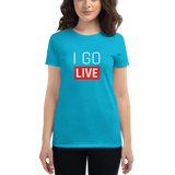 Women's I Go LIVE short sleeve t-shirt