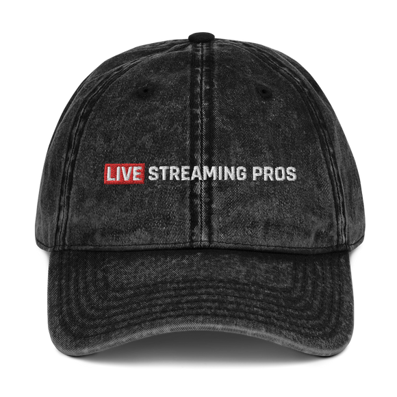 Vintage Live Streaming Pros Cotton Twill Cap
