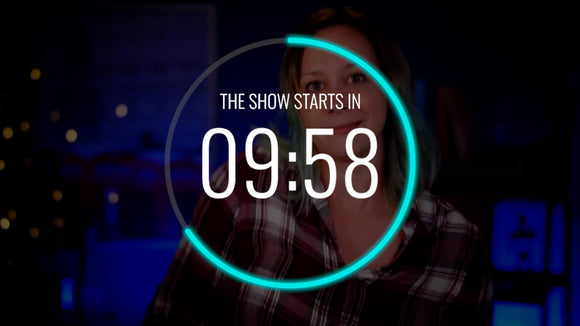 Neon Live Streaming Countdown Timer