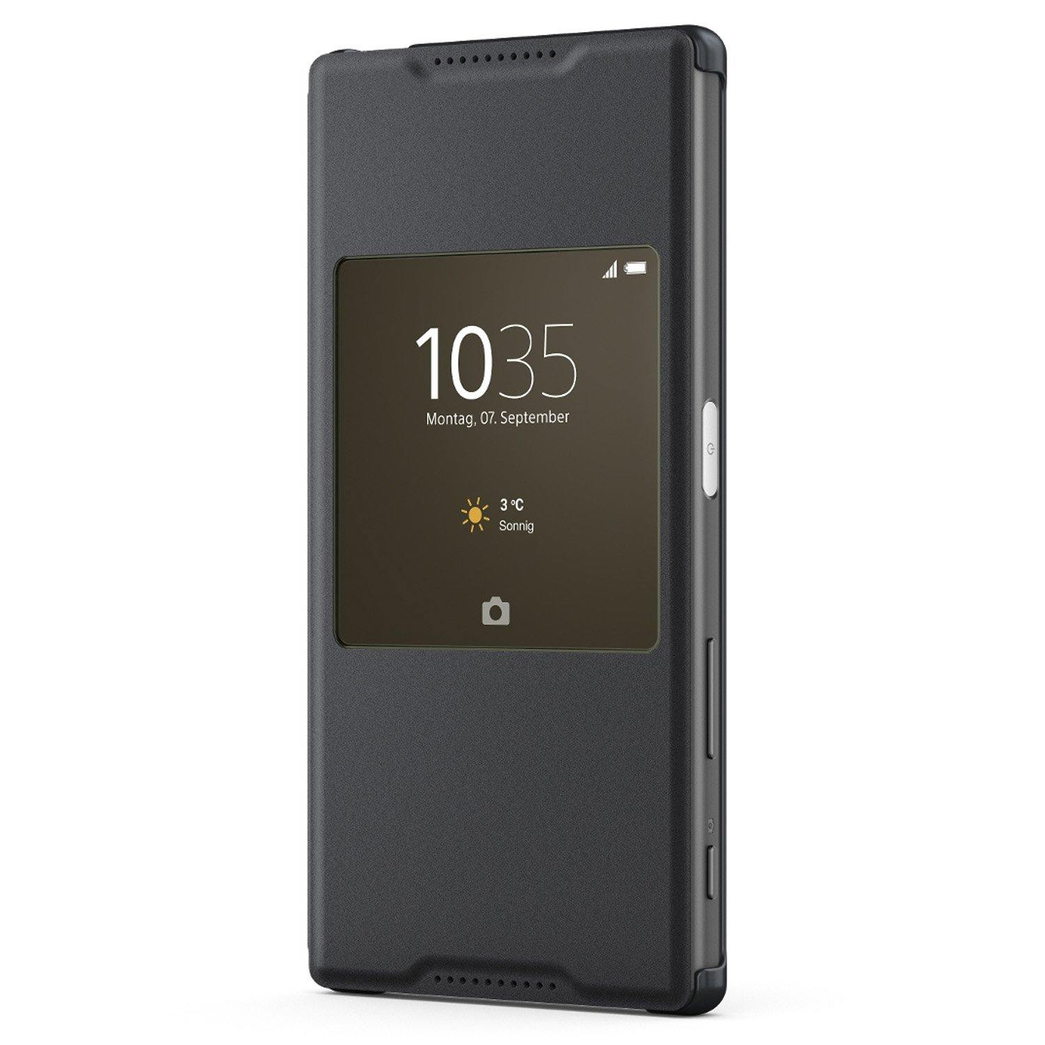 Sony Xperia Z5 Style-Up Smart Window Cover Case Black - SCR42 - Uk Mobile Store