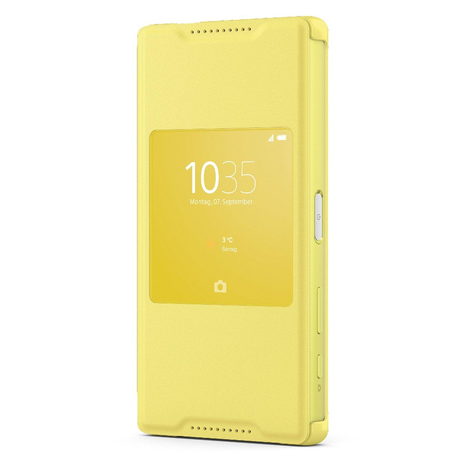 Sony Xperia Z5 Compact Style-Up Smart Window Cover Case Yellow - SCR44 - Uk Mobile Store
