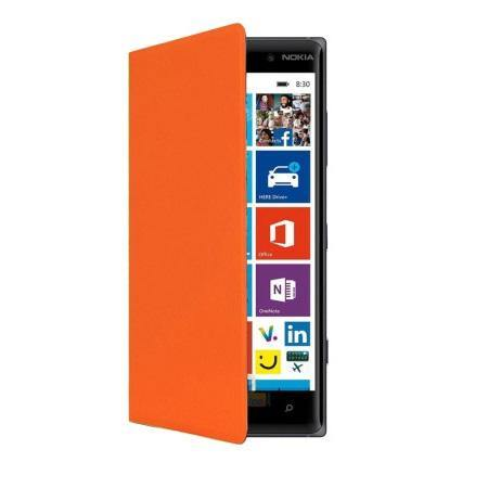 Nokia Lumia 830 Wireless Charging Flip Shell Cover - Orange