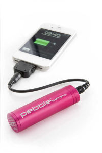 Veho Pebble Smartstick Emergency Charger - Pink