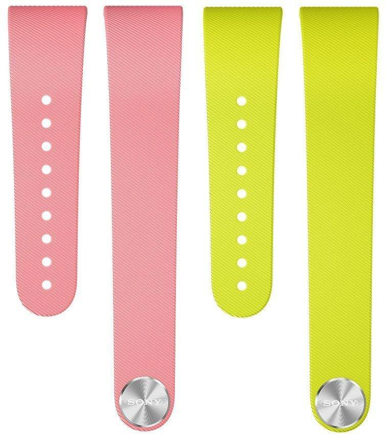 Sony SWR310 SmartBand Talk Wrist Strap Pink & Lime for White Large - Uk Mobile Store