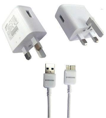 Samsung Galaxy S5 UK Mains Charger With Cable - White