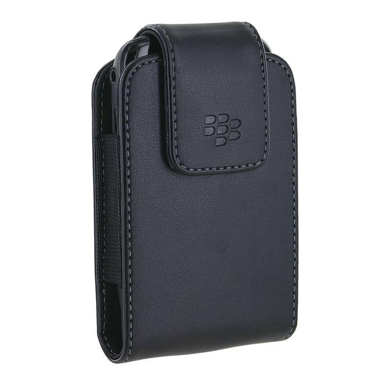 BlackBerry 8520 Curve Leather Swivel Holster Black - HDW-24208-001