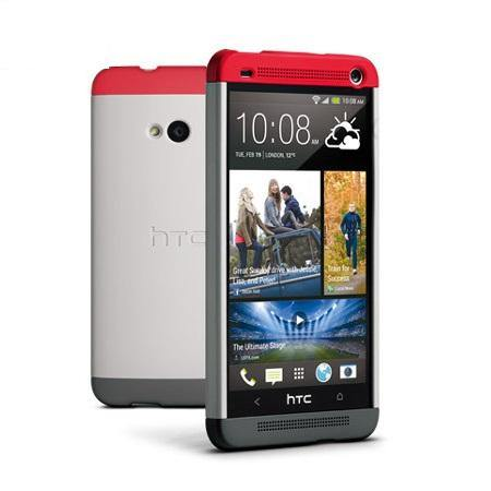 HTC One Double Dip Hard Shell Case Grey/Red - HC C840
