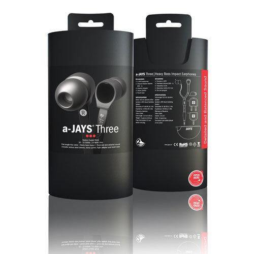 a-JAYS Three Headphone Earphones Black