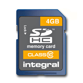 Integral 4GB SDHC Memory Card Class 10