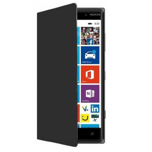 Nokia Lumia 830 Wireless Charging Flip Shell Cover - Black