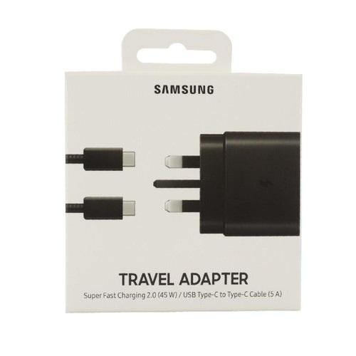 Official Samsung Galaxy S20 45W Fast Wall Charger UK Plug Black EP-TA845XBEGGB