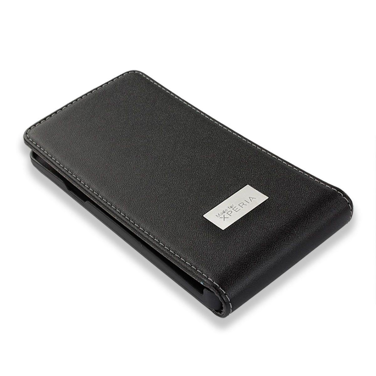 Sony Xperia T SMA5122B Leather Flip Case - Black