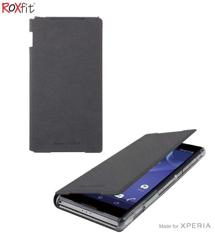 Sony Xperia Z2 Standing Book Flip Case - Nero Black