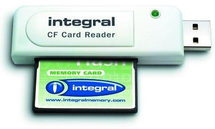 Integral Single Slot USB Compact Flash Card Reader