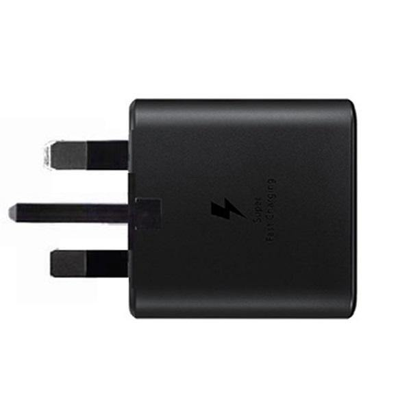 Official Samsung Galaxy A60 25W Fast Mains Charger With Cable Black EP-TA800 - Uk Mobile Store