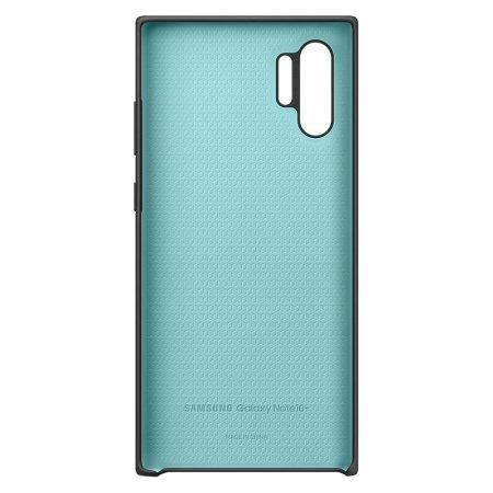 Official Samsung Galaxy Note 10 Plus 5G Silicone Cover Case Black