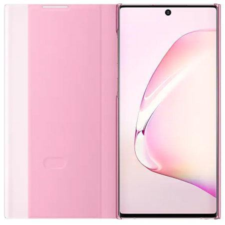 Official Samsung Galaxy Note 10 Clear View Case - Pink - Uk Mobile Store