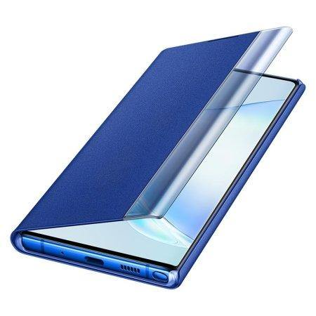 Official Samsung Galaxy Note 10 Plus Clear View Case - Blue