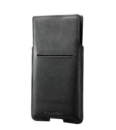 Official Blackberry Priv Leather Pocket Case Cover Black  - ACC-62172-001