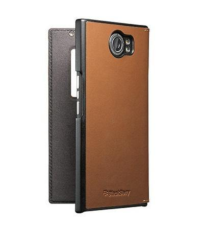 Official BlackBerry Priv Leather Flip Case Tan - ACC-62173-002