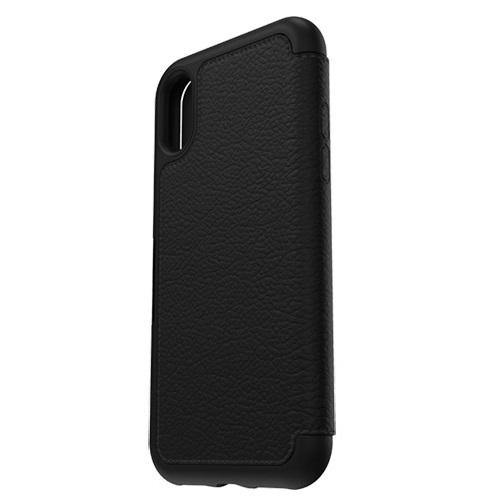 OtterBox iPhone X Strada Leather Wallet Case Black