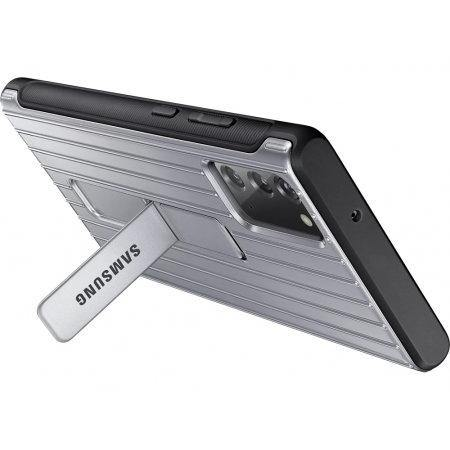 Official Samsung Galaxy Note 20 Protective Standing Case - Silver - Uk Mobile Store