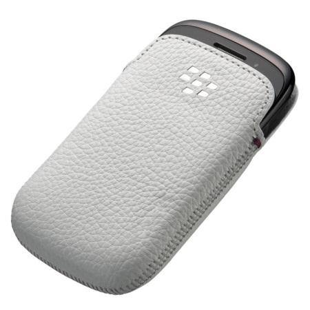 BlackBerry Curve 9320 Leather Pocket - ACC-48097-202 - White