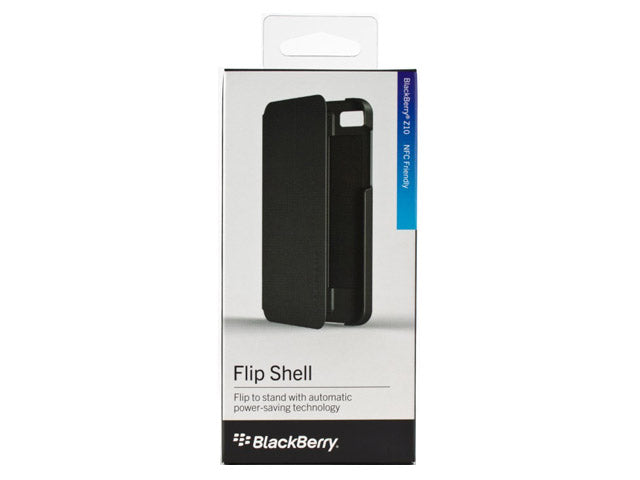 Official Blackberry Z10 Flip Shell Case Black - ACC-49284-201