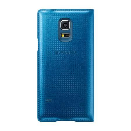 Samsung Galaxy S5 Mini S-View Premium Cover - Dimpled Blue