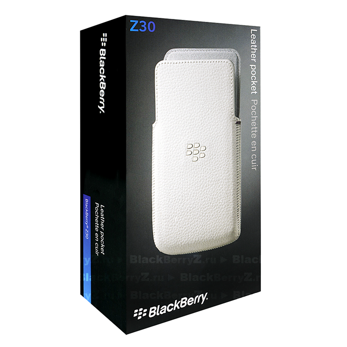 Official Blackberry Z30 Leather Pocket Case White - ACC-57196-002
