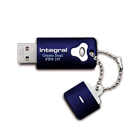 Integral 8GB Crypto Dual FIPS 197 Encrypted USB Flash Drive - Uk Mobile Store