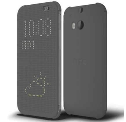 Genuine HTC One M8 Dot View Cover Case HC M100 - Grey