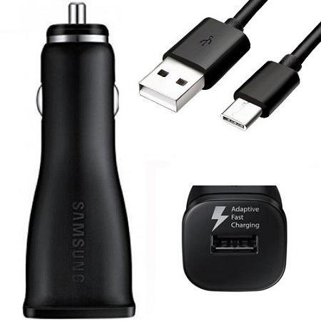Official Samsung Galaxy A41 Fast Car Charger with Type USB-C Cable Black