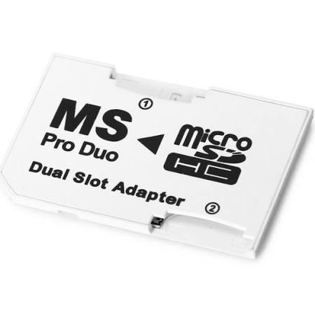 Dual Micro SDHC TF to MS Pro Duo Adapter