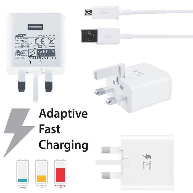Official Samsung Galaxy Fast Charging With USB Cable White - Uk Mobile Store